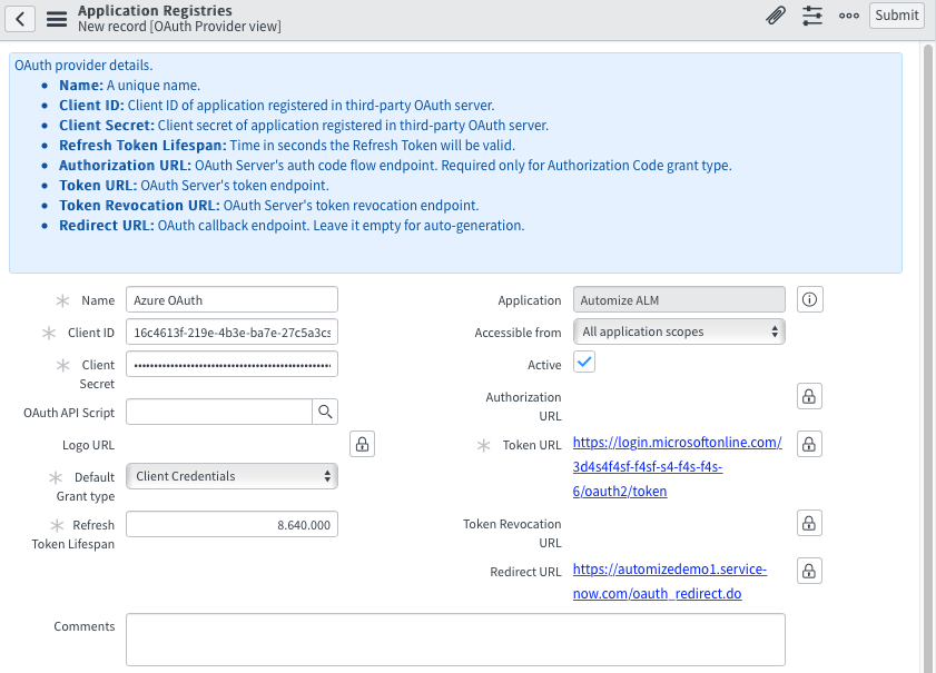Azure Automation API Integration using REST and OAuth 2 0