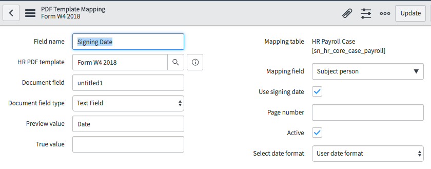 Detailed Example of an HR Service Using a Fillable PDF