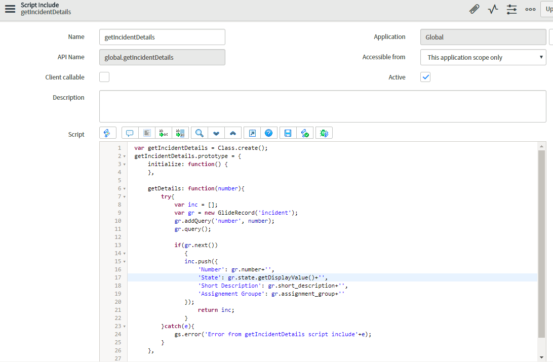 Problem with a Scripted REST API and its Script Include - Developer
