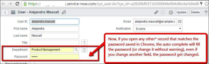 Prevent auto-complete from inserting incorrect passwords on