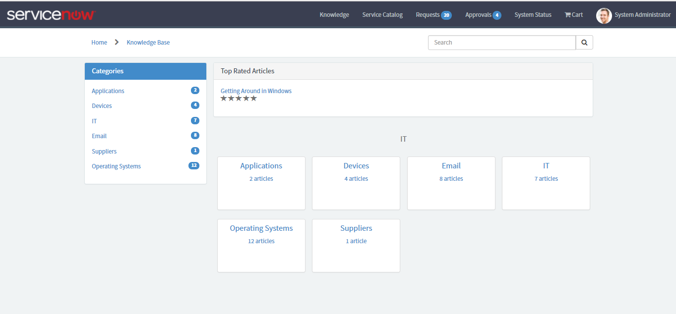 Don't see more than a knowledge base in service portal - Developer