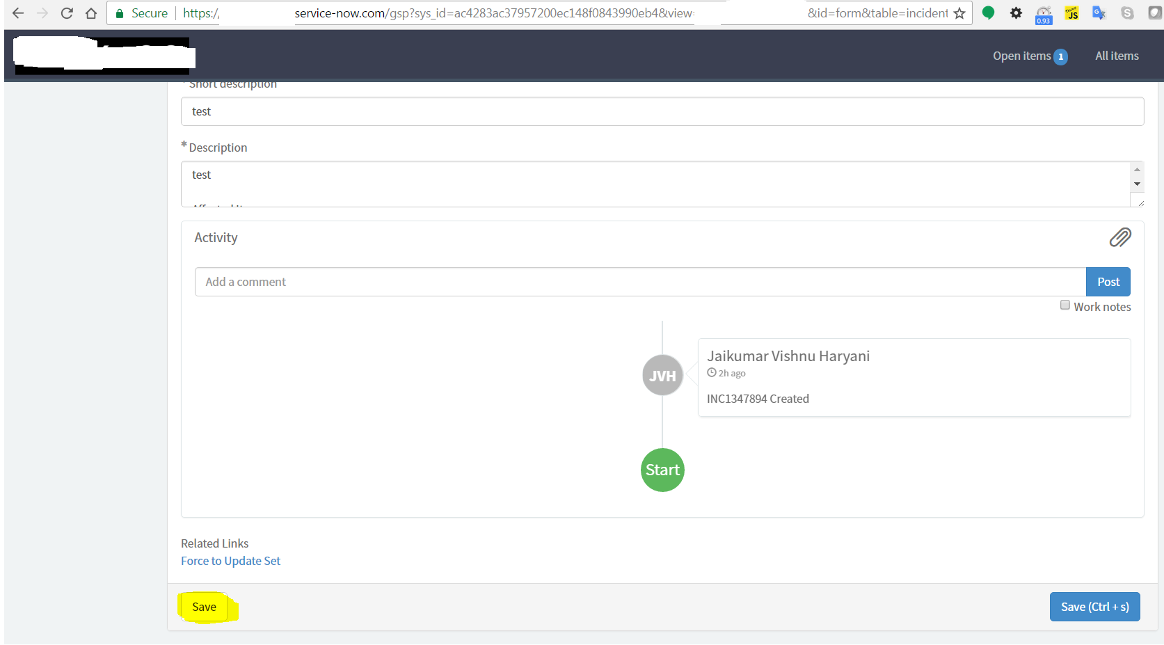 How to hide Save button in Service Portal form view - Now Platform