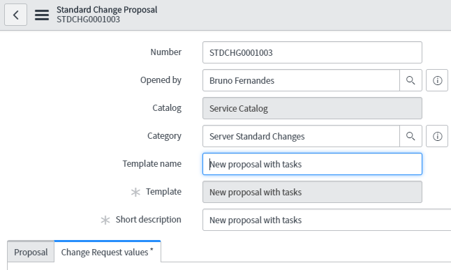 Create A Standard Change Task Template Instructions Wrong It