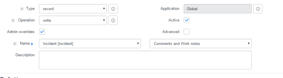 Write Access to only one field on form using ACL - Developer