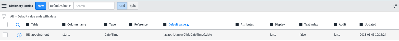 Set a default time or remove the time picker within the date picker