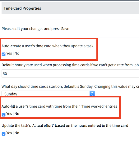 what is time cards