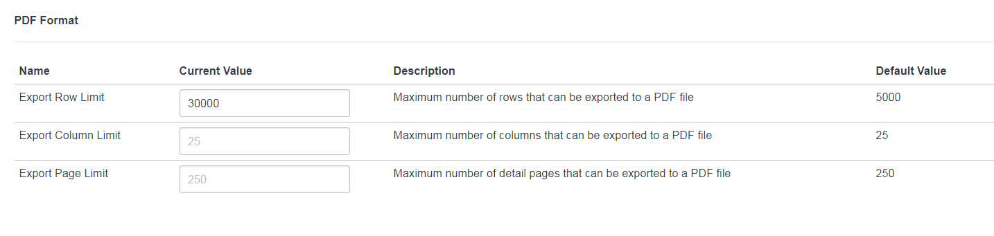 Exporting 30k records in PDF using glide pdf max_rows - Now