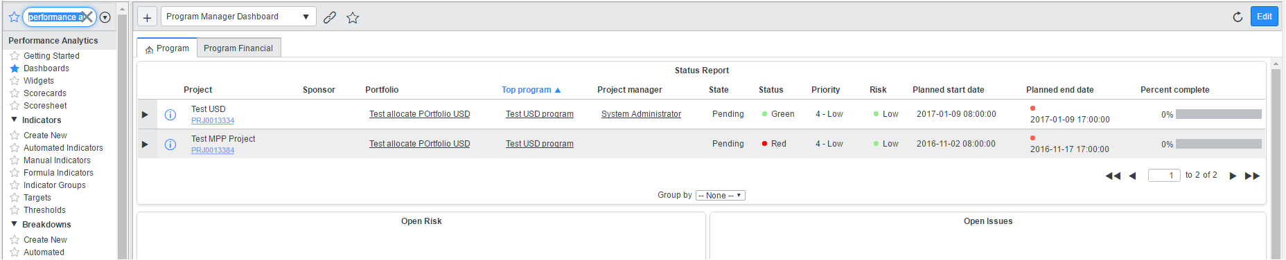 How Can I Remove Content From My Project Manager Dashboard It