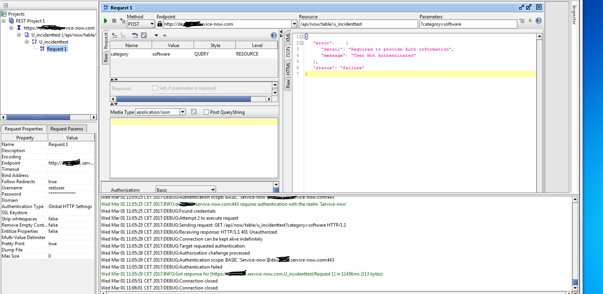 Use of servicenow with rest apiusing soap ui to generate mails captureg baditri Images