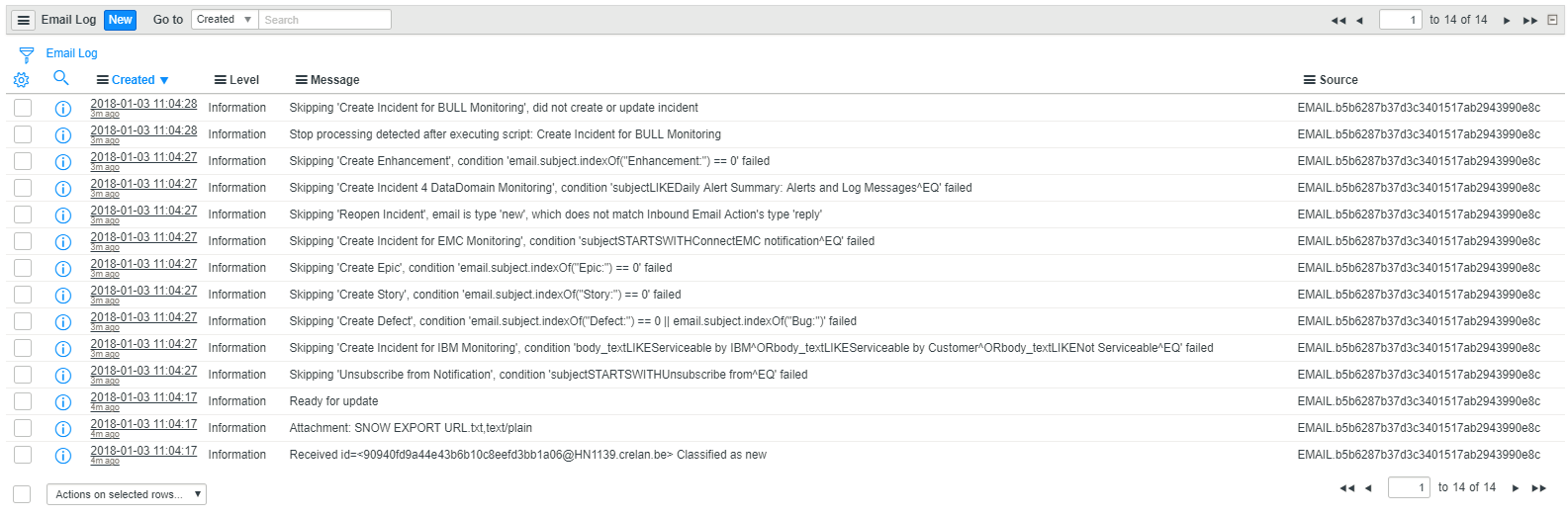 Attachments not added to incident from inbound email action? - Now