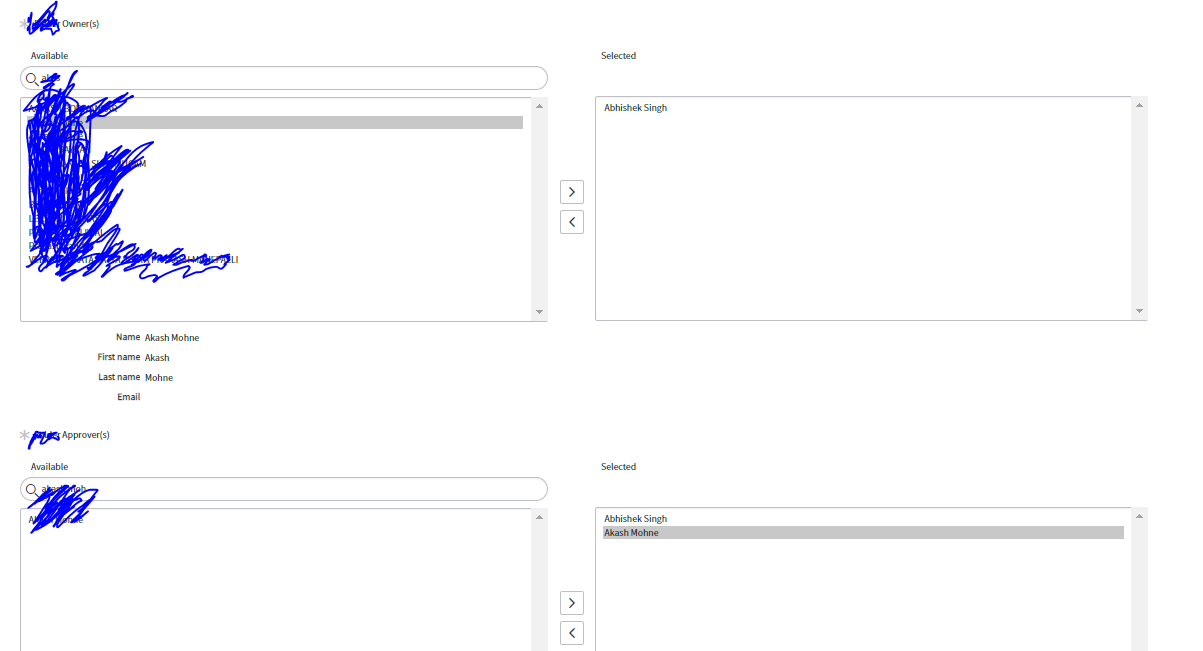 List collector to auto populate in right side slush bucket based on