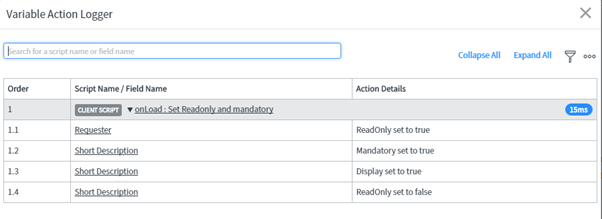Variable action logger : Jakarta Upgrade and new feature : A
