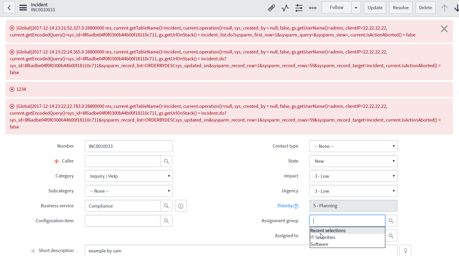 Filer conditions and Before-Query business and gs