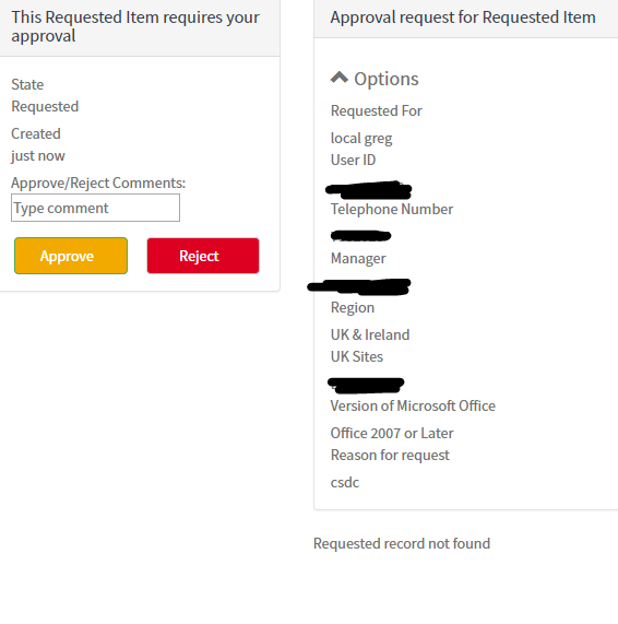 Approver can't see attachment in service portal - IT Service