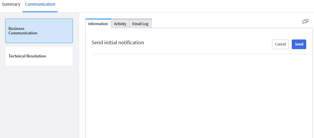 Why Major Incident Communication Email Template Show Empty It