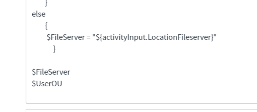 Orchestration - Parse Powershell Variables to workflow variables