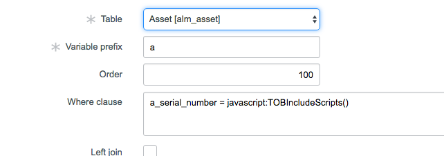 Database View and Where Clause calling Script Include - Developer