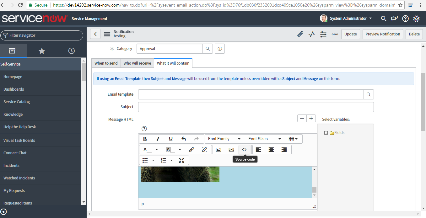 How To Create Email Templates Developer Community Servicenow