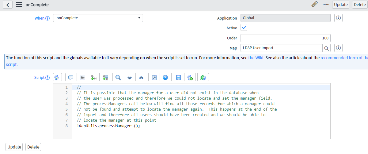 LDAP - Manager field not getting populated - IT Service Management