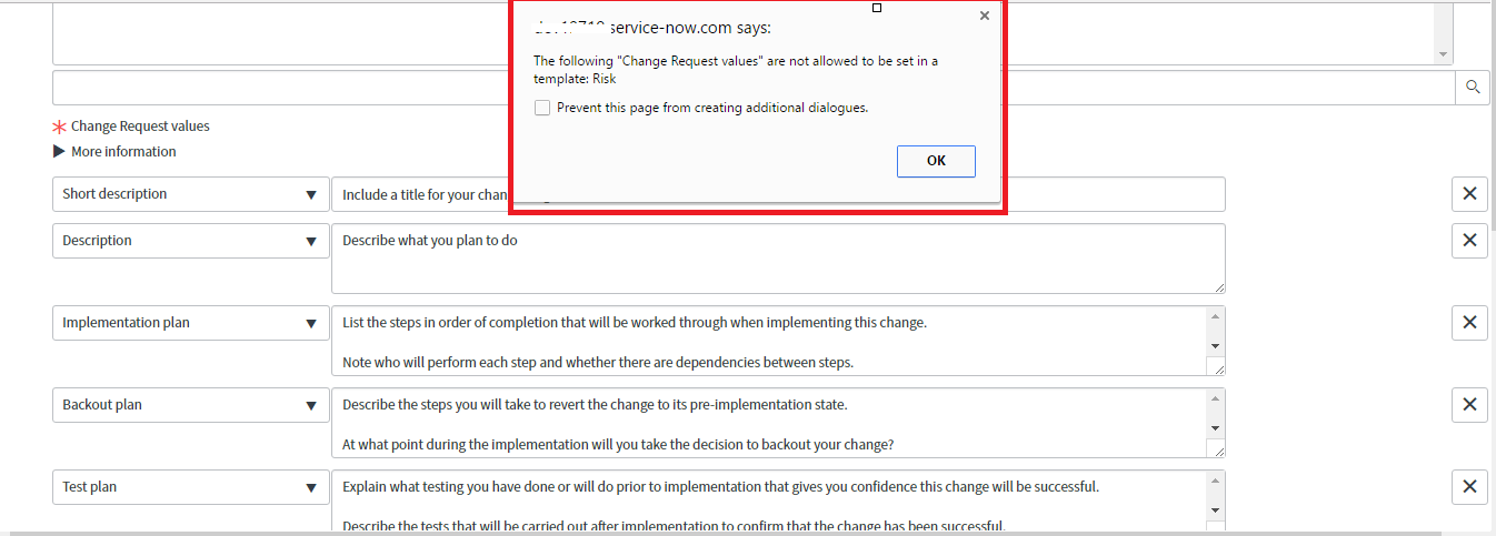 Change request values - Standard Change - Propose a new Standard ...