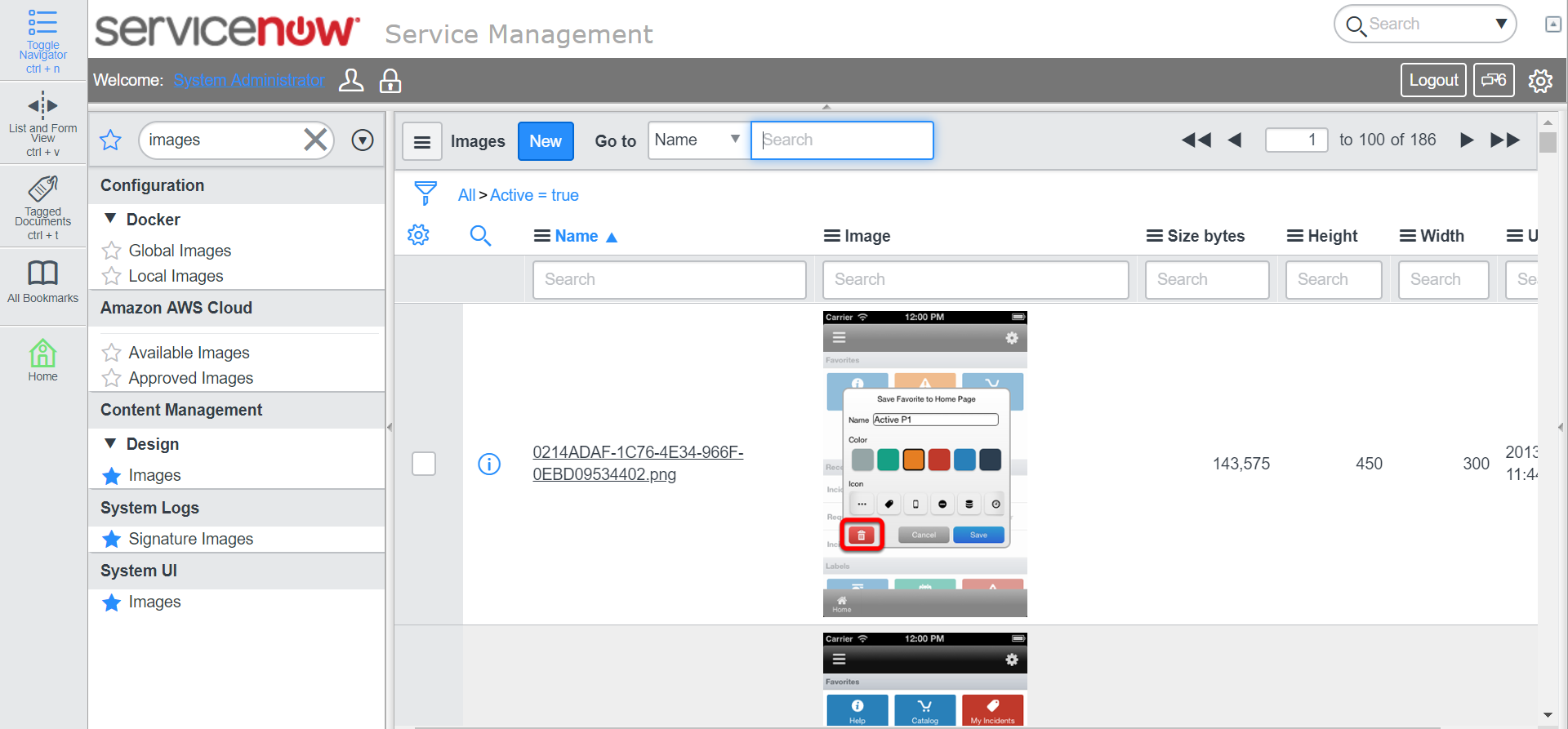 where is images/icon located? - Developer Community - ServiceNow