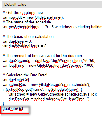 Calculating Due Date Based on Requested Date - IT Service Management