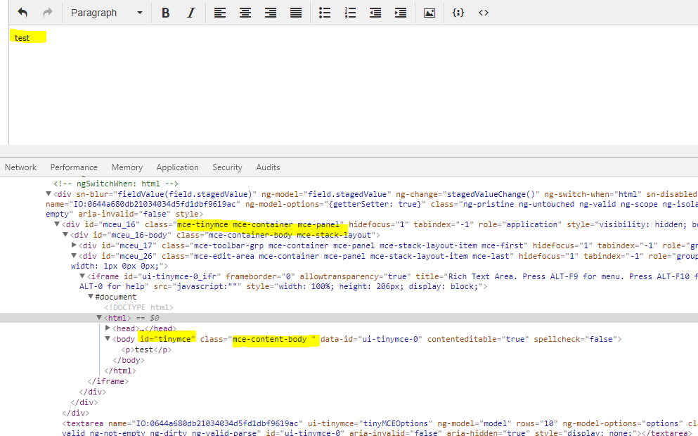 Write any HTML code back to HTML Variable (TinyMCE) in Record