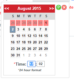 How to disable days from being selected on the Date/Time Datepicker