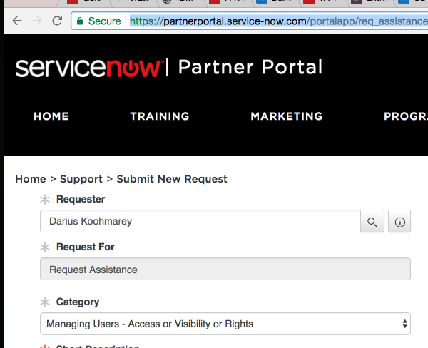 I want to delete an user account from Servicenow partner