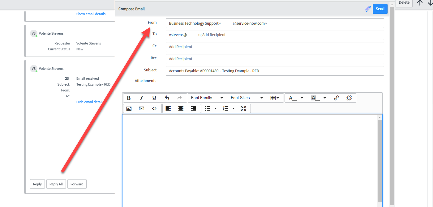 Setting the From field on Reply-Received Client Template - Developer