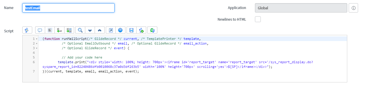 Reporting - Embedded Reports into Email Notification - Developer