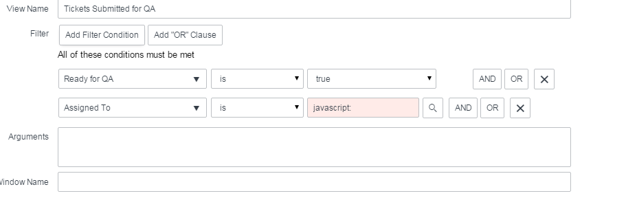 How to filter 'Assigned To' to the current user - Developer
