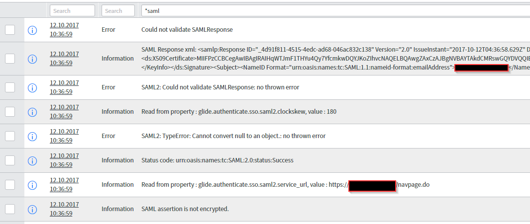 ADFS, Couldn't validate SAML Response - Service Integration and