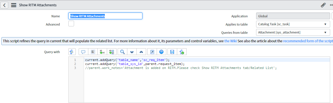 Copy attachments from RITM to Catalog Task and vice versa