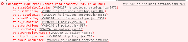 Uncaught TypeError: Cannot read property 'style' of null