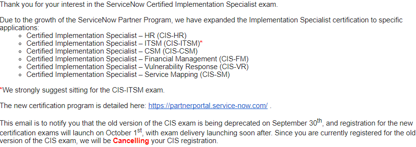 New cis exam pattern developer community servicenow community does anyone have access to partner portal to share the exams blueprint malvernweather Gallery