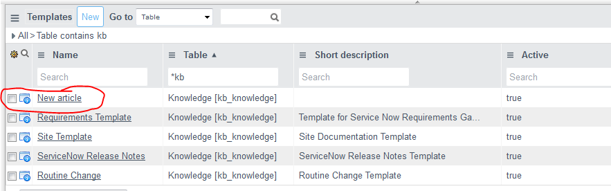 how to create design templates for knowledge articles now platform