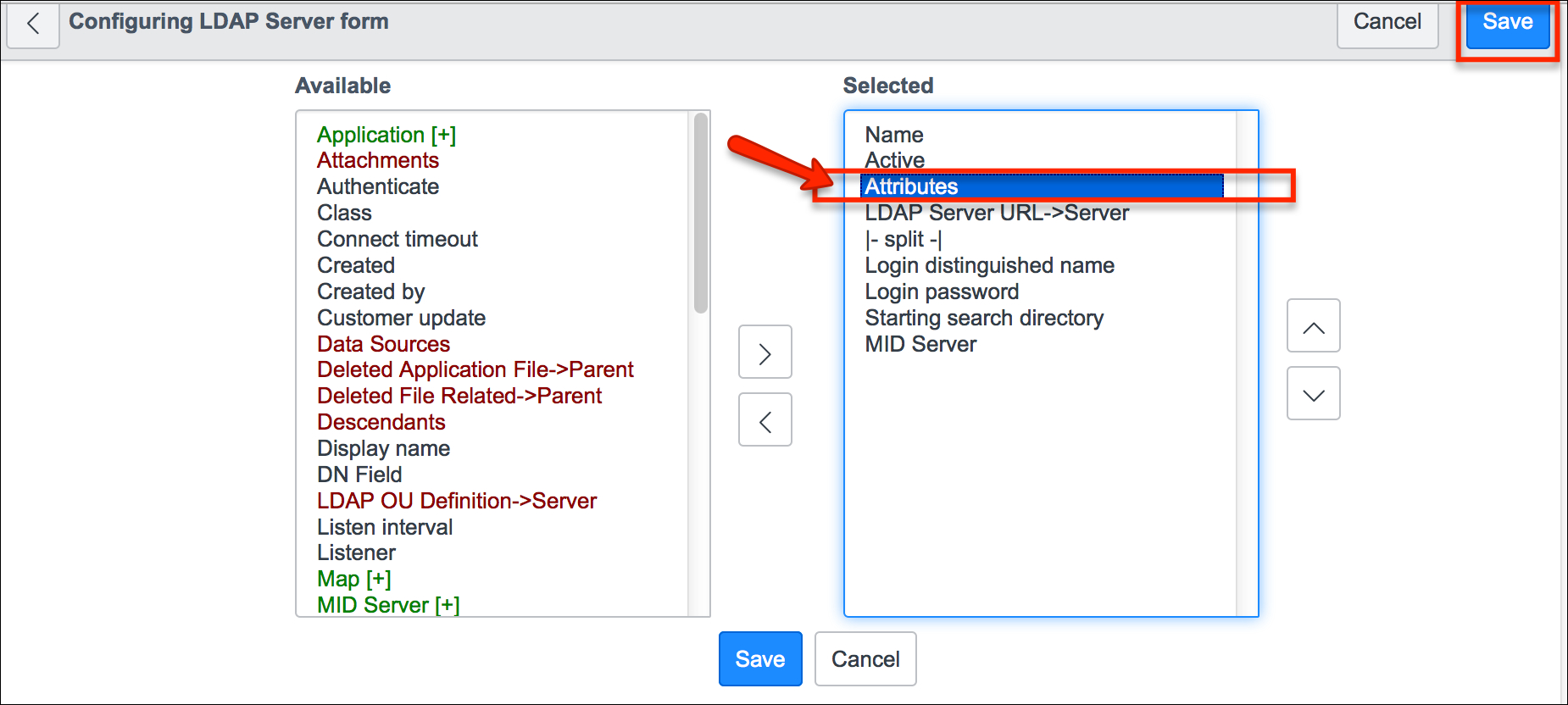 Setting the Attributes to reduce LDAP import times - IT