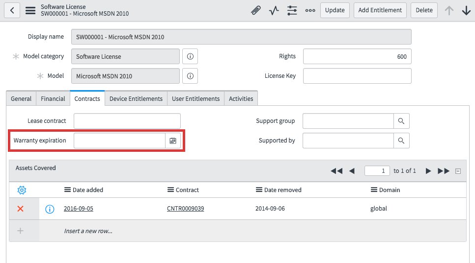 tracked recorded and audited license key renewals and expirations