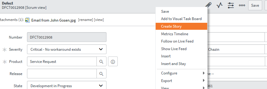 How do I auto refresh the defect form after submitted new story in