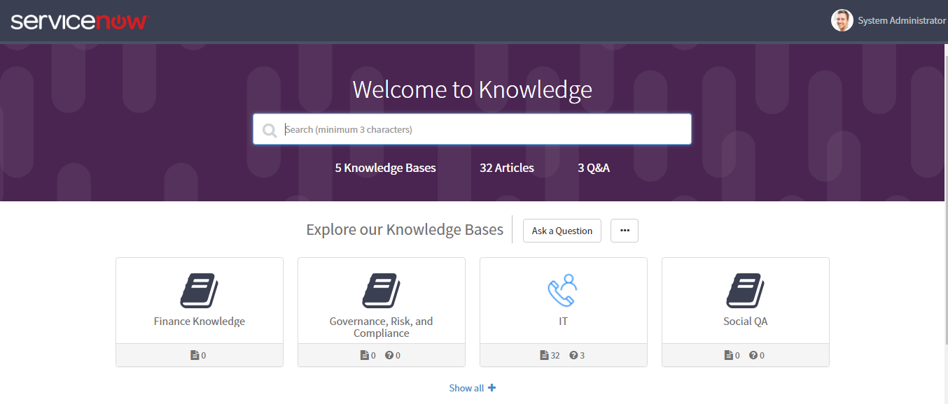 How to restrict Knowledge Management - Service Portal search