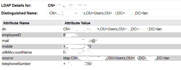 LDAP: Not all AD Attributes get imported - IT Service