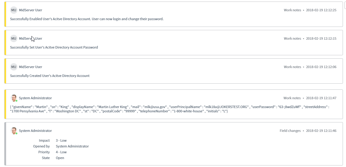 Orchestration: Create AD Object, Reset AD User Password