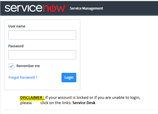 How To Keep A Disclaimer On The Service Now Login Page