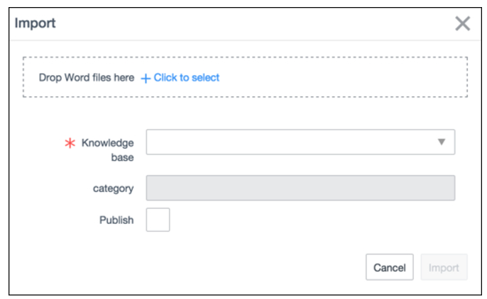 Modifying the Import Article Button - IT Service Management