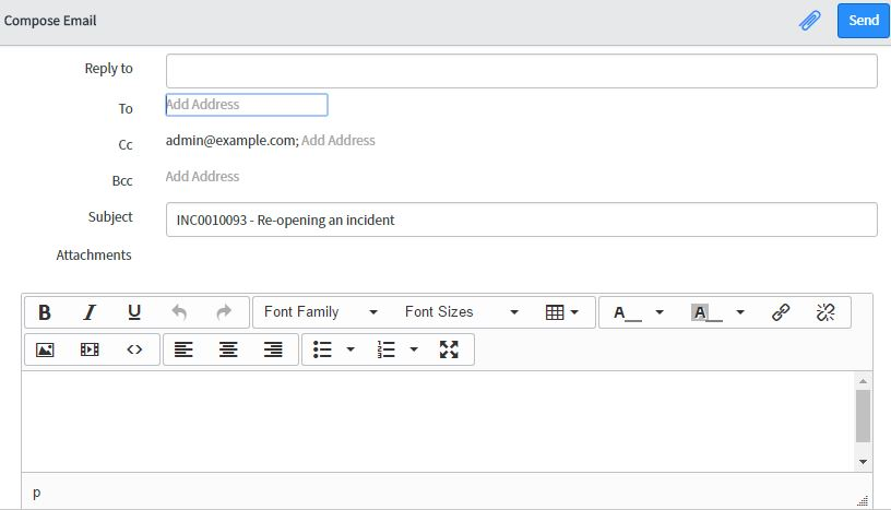 Selecting An Email Template From The Compose Email Email Client