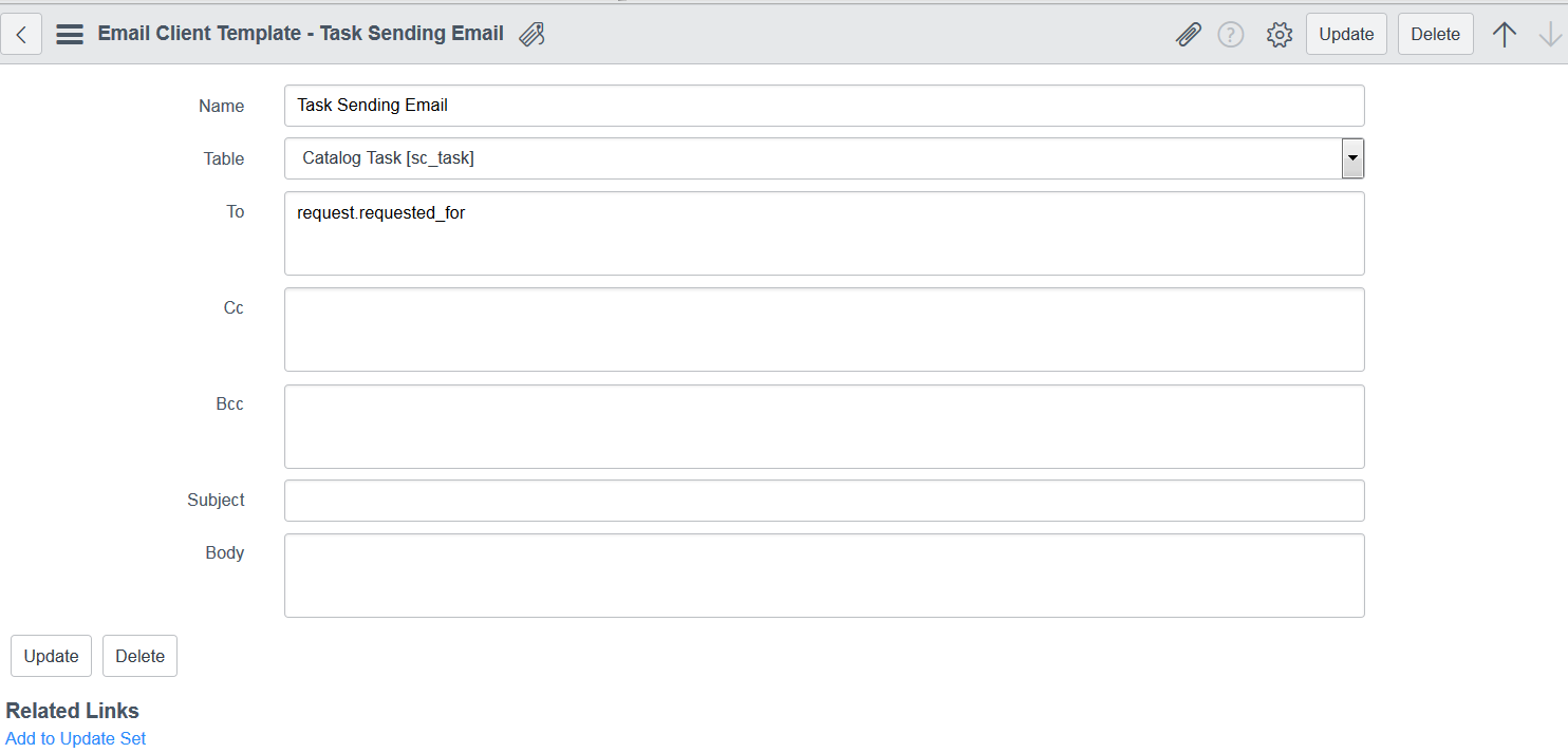 How To Populate The To Field In The Client Email With The