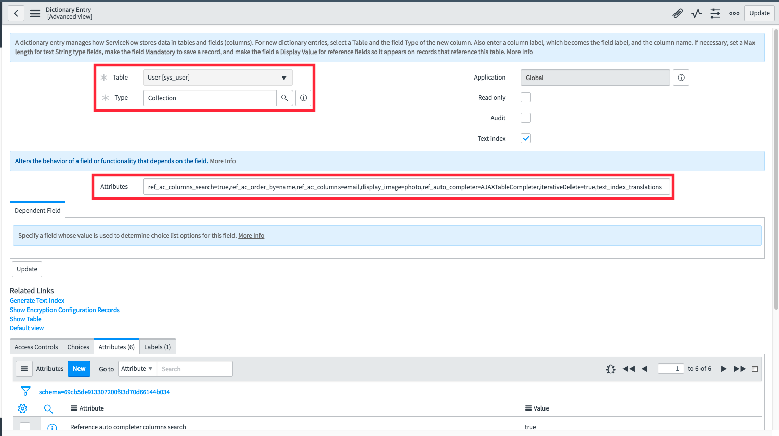 List attributes beyond name for user reference fields - Now