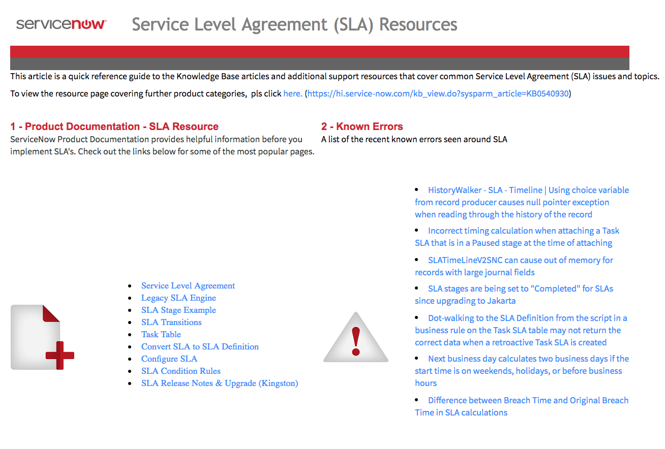 The New Service Level Agreement Sla Landing Page For 2018 It