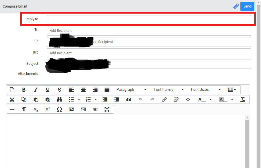 Reply To In Email Client Template It Service Management
